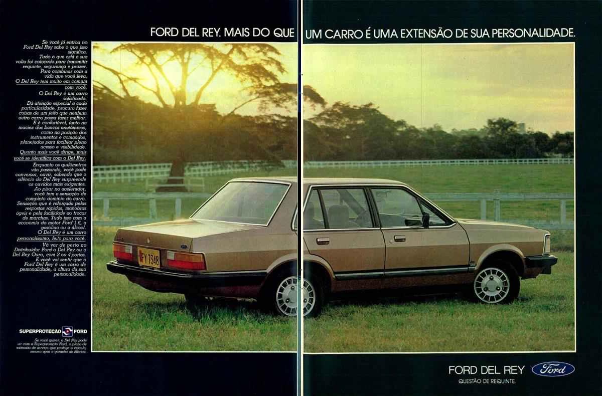 Anúncio da Ford Promovendo o Del Rey em 1982