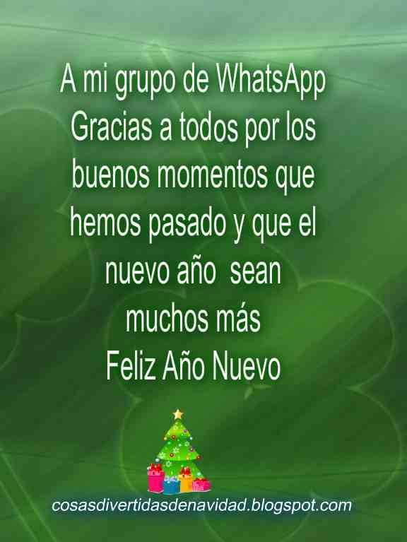 WhatsApp para felicitar el año nuevo