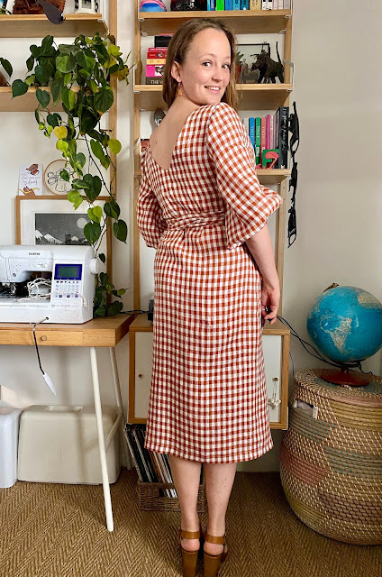Diary of a Chain Stitcher: Papercut Patterns Aura Dress in Gingham Linen from The Fabric Store