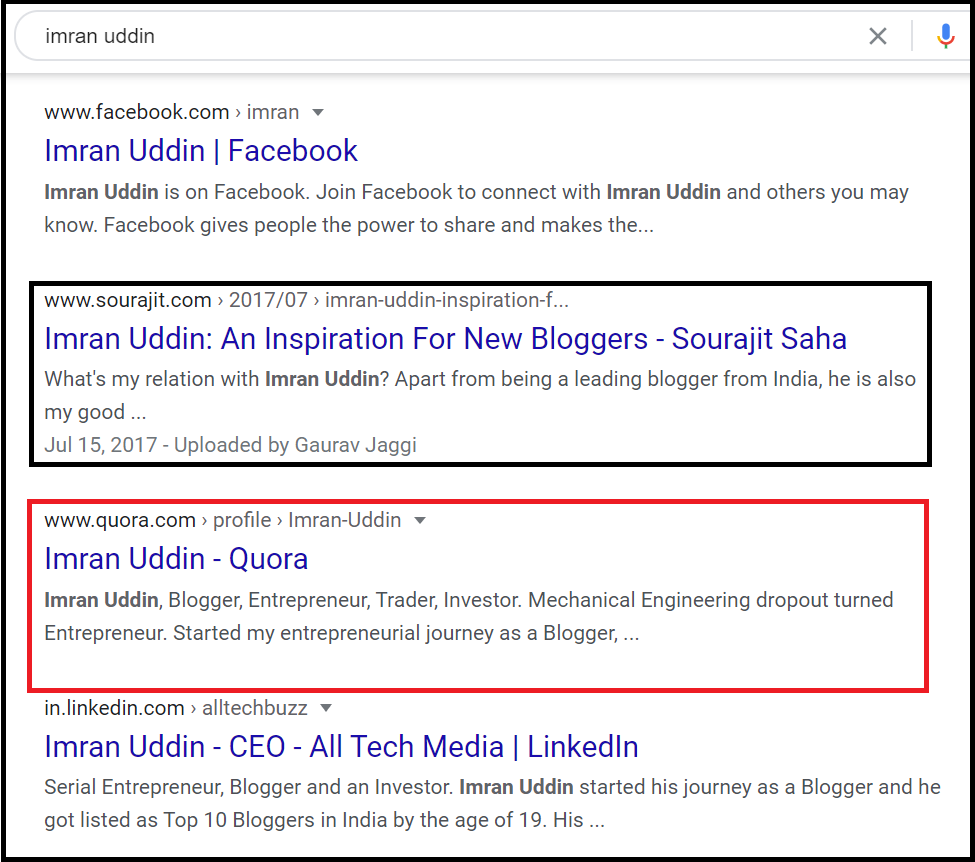Imran Uddin On Google
