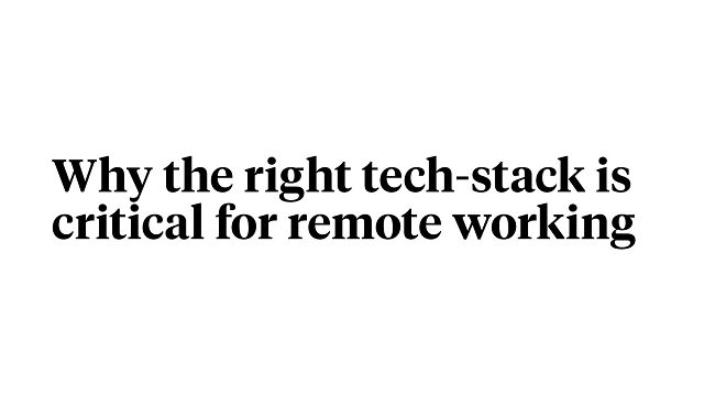 Why should virtual workplaces be equipped with high-end tech stack?