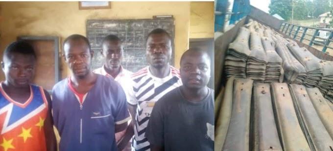 Five Suspected Rail Track Vandals Arrested In Kaduna