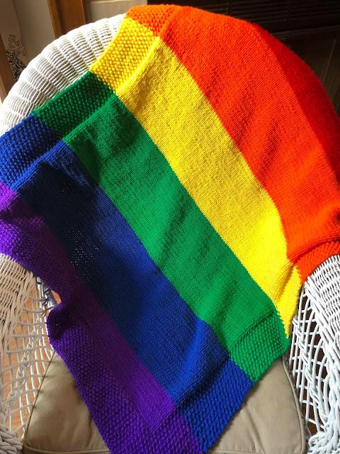 Baby Eli's Rainbow Blanket