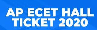 AP ECET Hall Ticket 2020