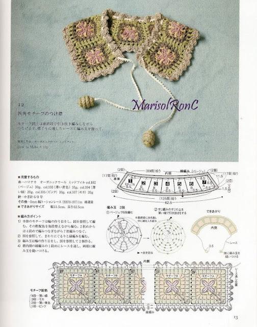 Patron Crochet Cuello Romantico