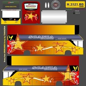 Livery BUSSID Srikandi SHD Sumatera Sempati Star Kuning