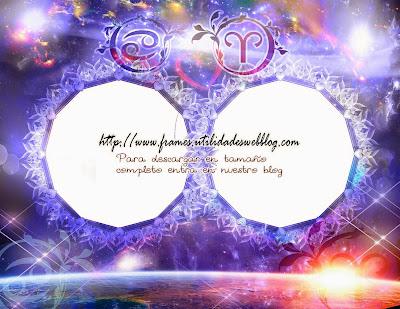 Marcos para fotos de enamorados del signo zodiacal Cancer y Aries
