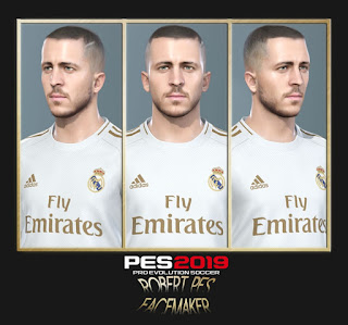 PES 2019 Faces Eden Hazard by RobertPes Facemaker
