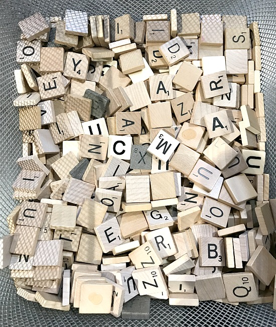 Easy DIY Scrabble Drink Coasters from leftover Scrabble tiles