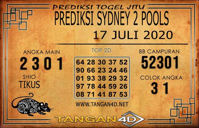 PREDIKSI TOGEL SYDNEY 2 TANGAN4D 17 JULI 2020
