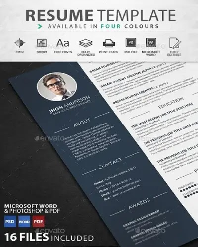 download cv template gratis