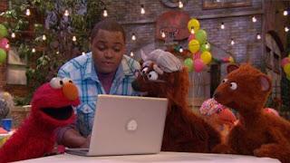 Grampy Bear, Baby bear, Chris, Elmo, Sesame Street Episode 4417 Grandparents Celebration season 44