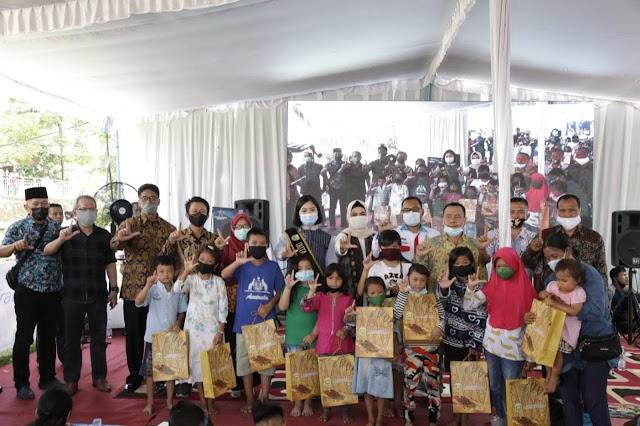 Hj. Percha Mengaku Lega, Anak-Anak Korban Kebakaran Kembali Ceria