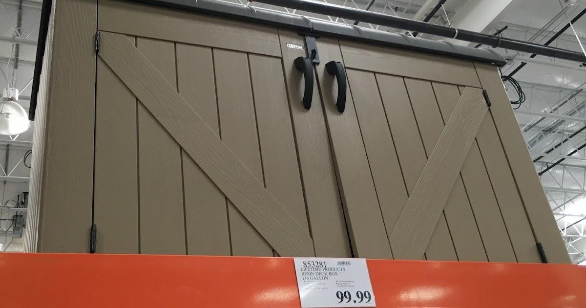 Lifetime Horizontal Resin Storage Shed | Costco Weekender
