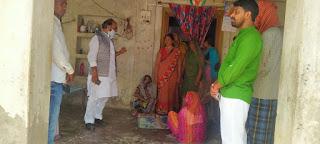 मृतक श्यामलाल के घर दु:ख प्रकट करने पहुंचे सपा जिलाध्यक्ष | #NayaSabera
