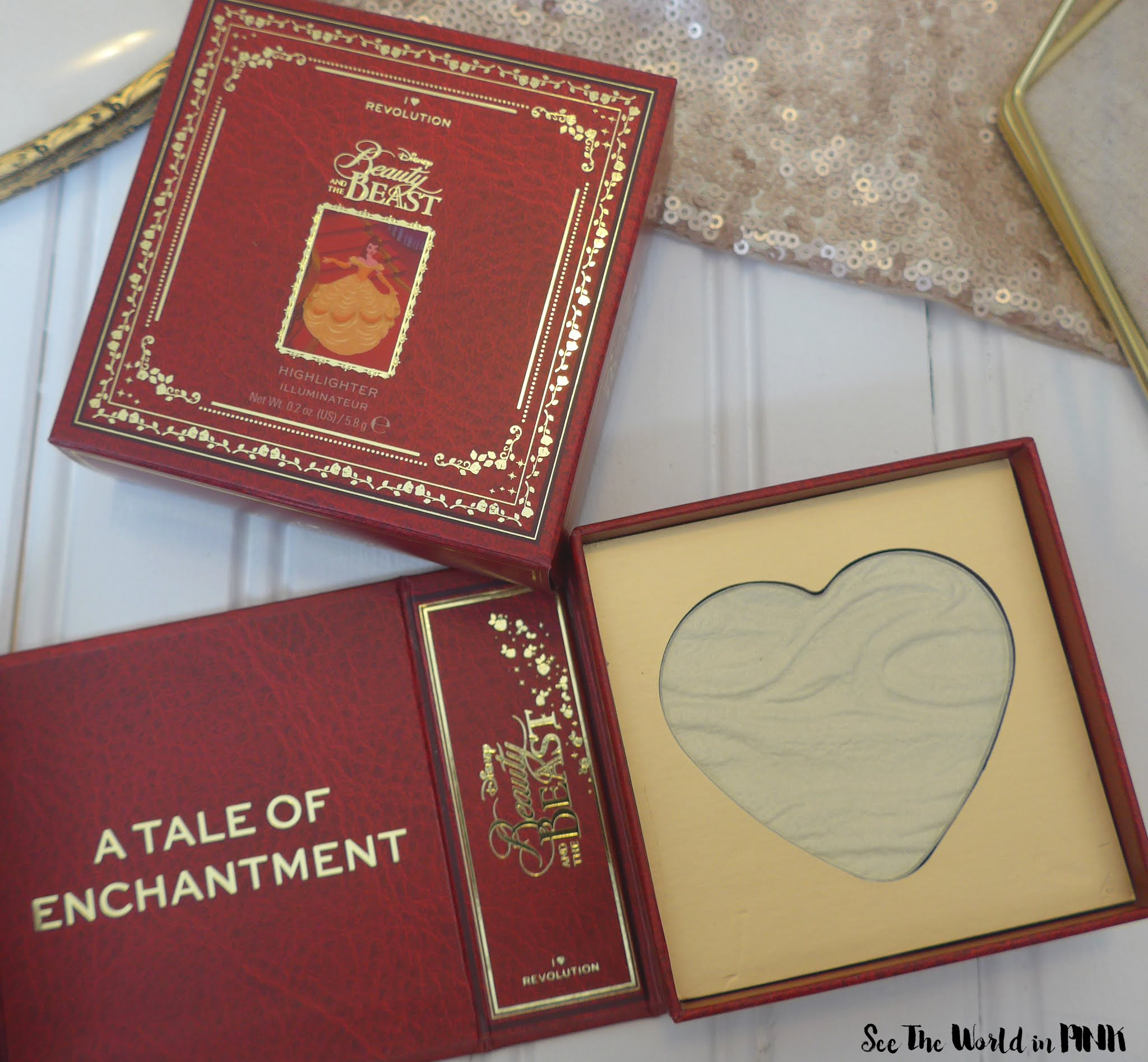 "I Tried The Makeup Revolution ""I Heart Revolution x Disney Fairytale Books Belle"" Products So You Don't Have To..."