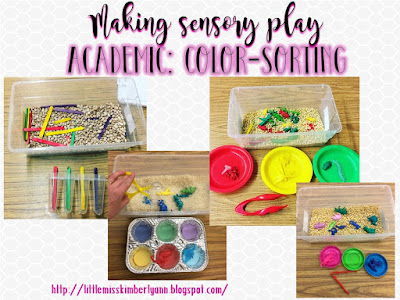 Making Sensory Play ACADEMIC in special education