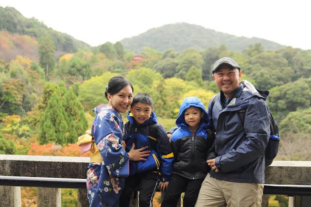 family travel Kyoto kiyomizu dera