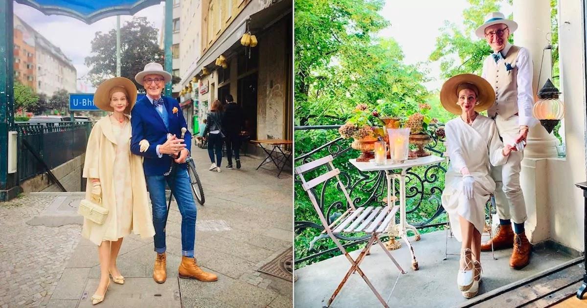 Stylish Elderly Couple With Impeccable Taste Make Fashion A Lifestyle