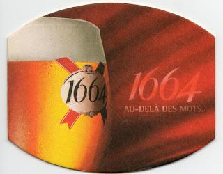 le sous-bock rouge de la bière 1664