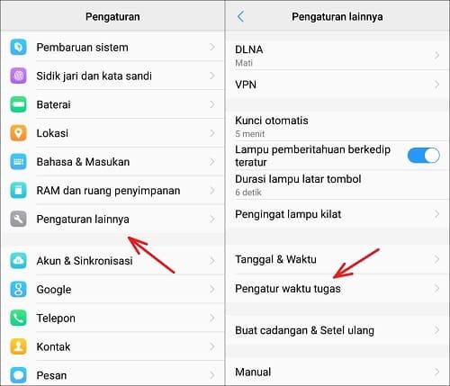 Aktifkan Mode Pesawat Otomatis di Android