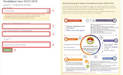 Cara membuat akun sscasn cpns tahun 2019 2020