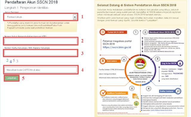 panduan daftar akun sscn 2018