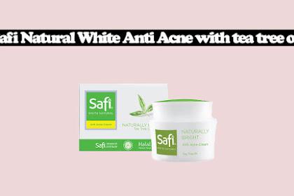 Review Safi Natural White Anti Acne with tea tree oil