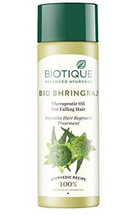 Biotique bio bhringraj therapeutic oil for falling hair intensive hair regrowth treatment