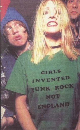 Girls Invented Punk Rock Not England shirt worn by Kim Gordon.  PYGear.com