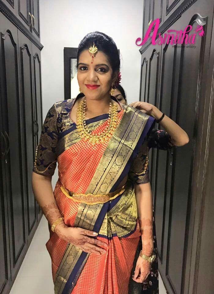 8ba171f2ad068  23 Collar neck brocade beauty - Elegant pattu saree blouse designs