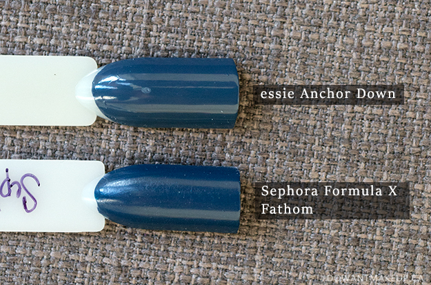 Essie Anchor Down swatches