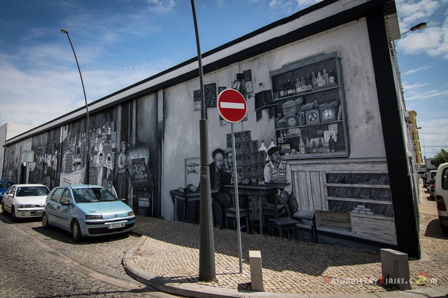 Grafitis conserveras de Olhão, Algarve