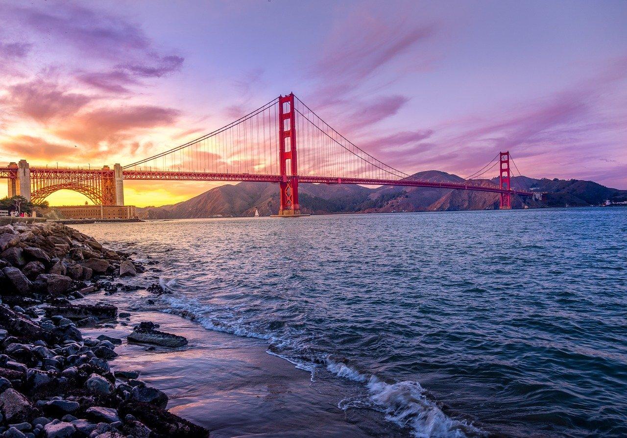 por do sol da ponte golden gate