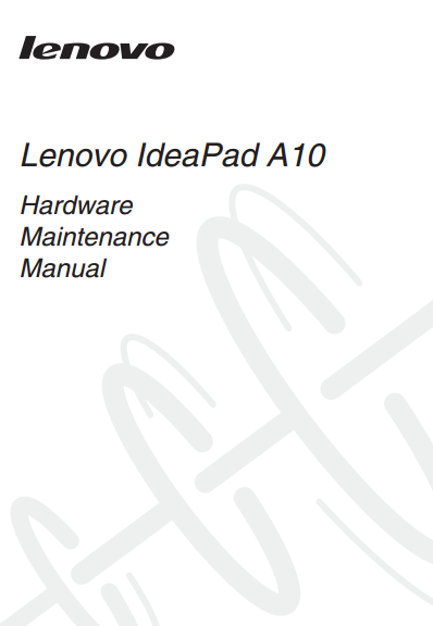 Lenovo IdeaPad A10 Manual