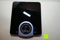 Vorderseite: Smart Weigh Digitale/Mechanische Leichtgewicht-Küchen- und Nahrungsmittelwaage mit LCD-Display und Zifferblatt, schwarz