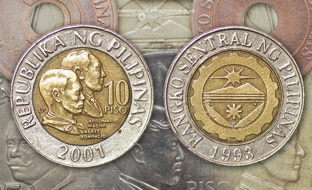 Philippines coin 10 Piso 2001