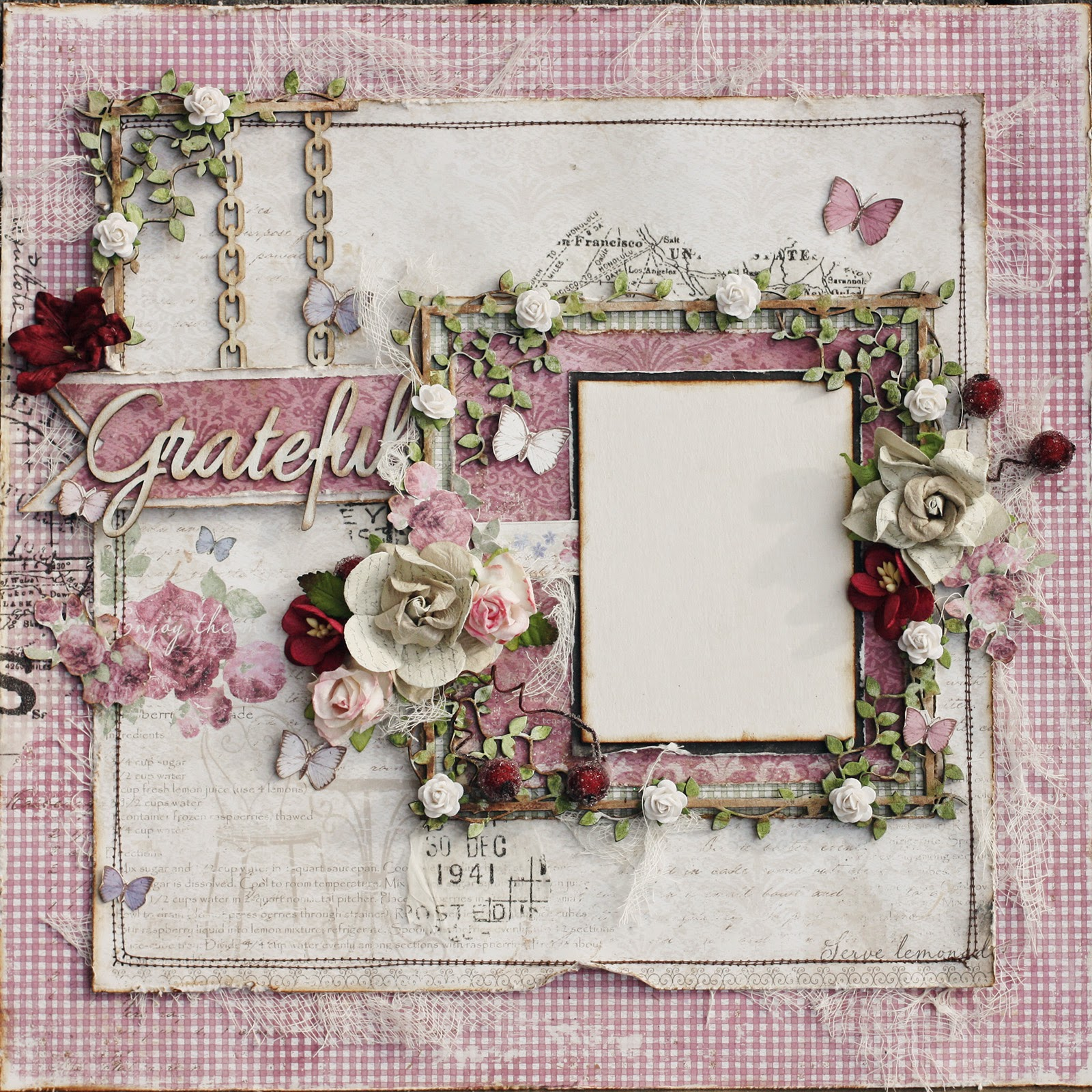 Such A Pretty Mess: NEW! Scrapbook Diaries Kit Page