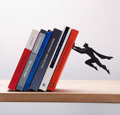 Book and Hero Bookend