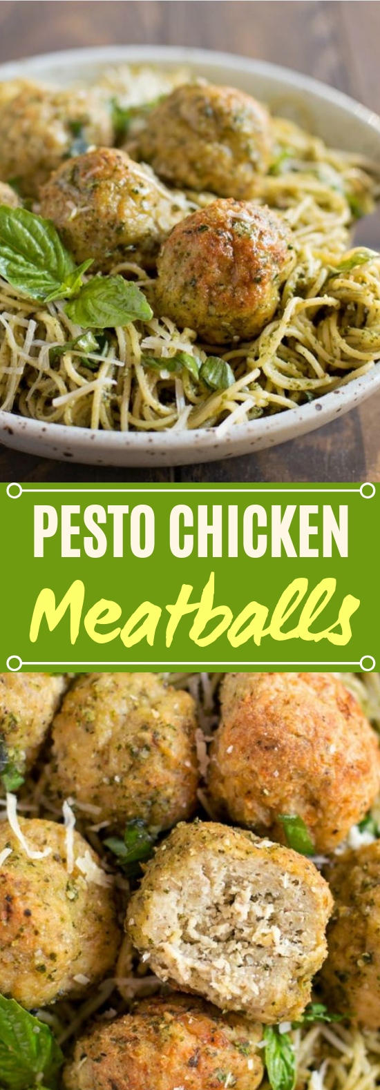 Pesto Chicken Meatballs #dinner #easy