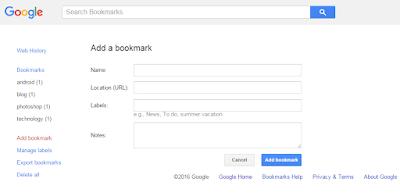 Cara Mendaftarkan Blog di Google Bookmark