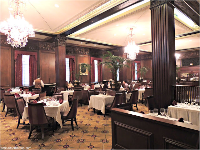 Comedor del Restaurante del Hotel Parker House en Boston, Massachusetts