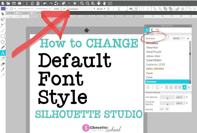 silhouette 101, silhouette america blog, silhouette studio, silhouette studio v4.4, fonts