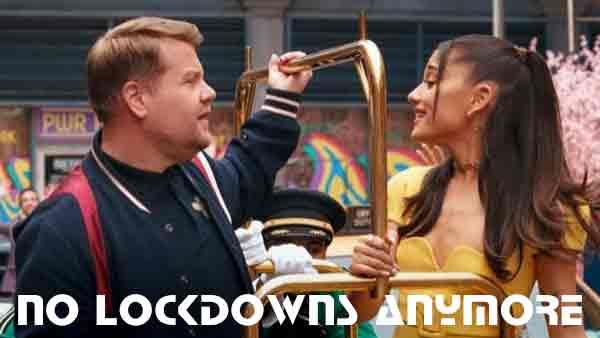 ariana grande no lockdowns anymore