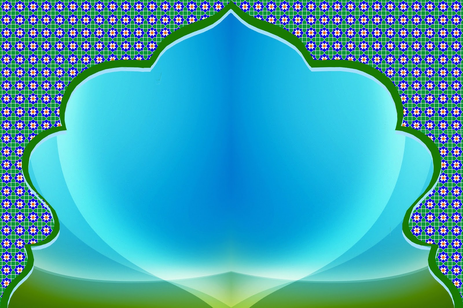 background islami biru muda