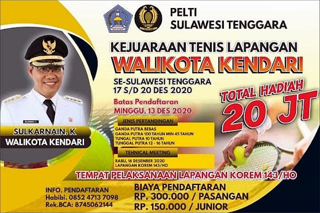 Turnamen Tenis Walikota Kendari se - Sulawesi Tenggara