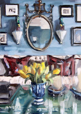yellow-tulips-room-interior-painting-merrill-weber