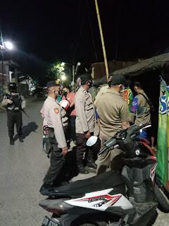 Upaya menekan lonjakan penyebaran Covid-19, Polres Pelabuhan Makassar terus lakukan Patroli PPKM level IV