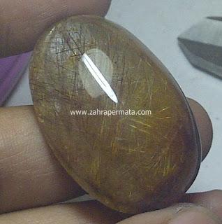 Batu Permata Kecubung Rambut Emas Jumbo - ZP 474