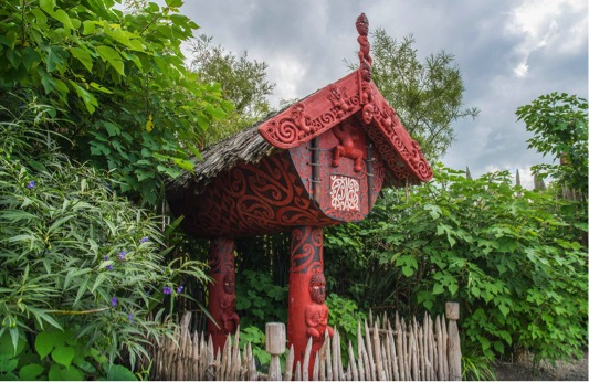 Traditional maori carving in hamiton gardens maori heritage garden